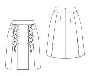 Elektra Laced Skirt